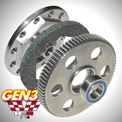 Axial Wraith GEN3 Slipper Unit - 80 Tooth 48 Pitch Steel Spur/Slipper Pad/Backplate/Bearing