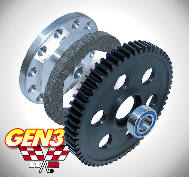 Traxxas E-REVO Brushless GEN3 Slipper Unit - 0.8 module 65 Tooth Steel Spur Gear/Slipper Pad/Backplate/Bearing