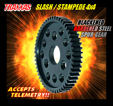TRAXXAS SLASH / STAMPEDE 4x4 BLACKENED HARDENED STEEL SPUR GEAR