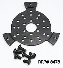 Small Vented Slipper Plate for steel or plastic Double-Disc Spur Gears fits 66T thru 70T.