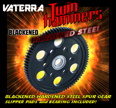 VATERRA TWIN HAMMER BLACKENED HARDENED STEEL SPUR GEAR